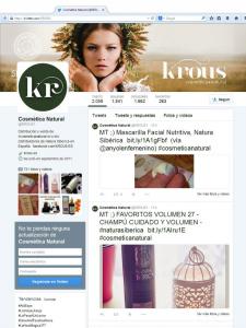Twitter de krous® cosmética+natural