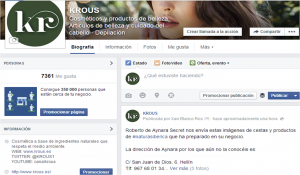 Facebook de krous® cosmética+natural
